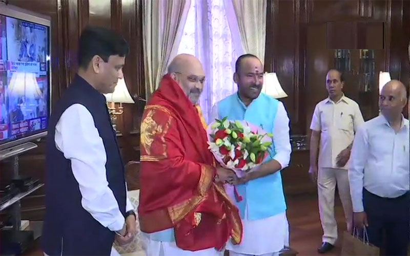 Amit Shah takes charge as the Union Home Minister