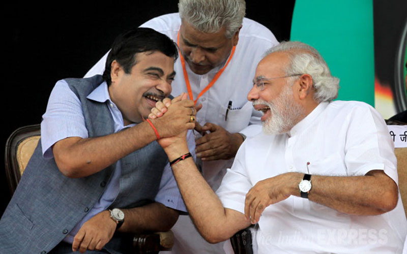 Gadkari with PM Modi