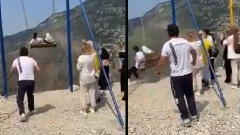 russia women fall off 6300 ft cliff while taking swing ride video goes viral