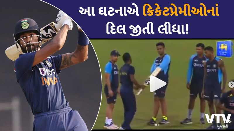 indian cricketer hardik pandya gifted a bat to srilankan allrounder chamika karunaratne during t20 match
