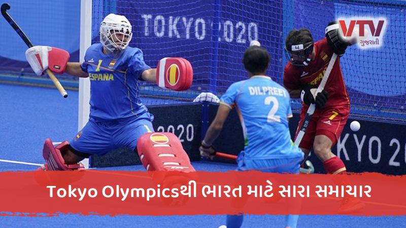 tokyo olympics 2020 indian men hockey team beats spain in third group match