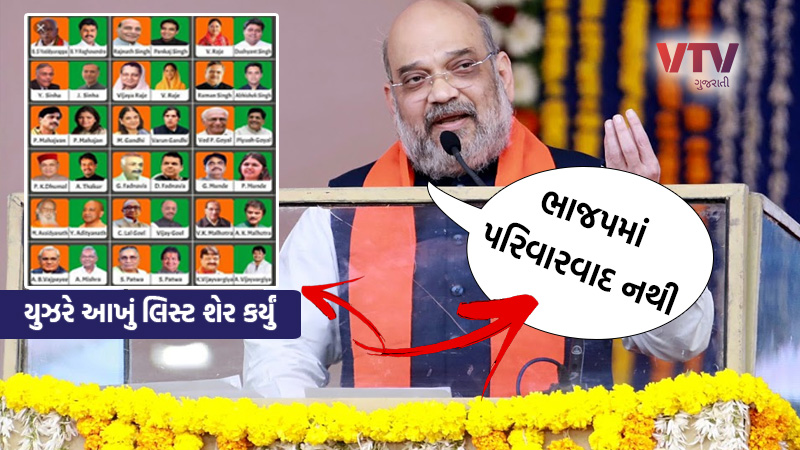 there is no culture of dynastic politics in bjp