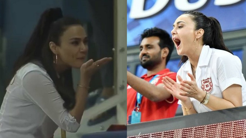 IPL 2020 : preity zinta trending on twitter after flying kiss