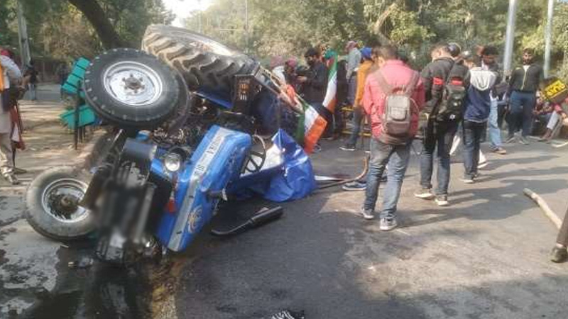 tractor rally navreet singh died on protests in delhi
