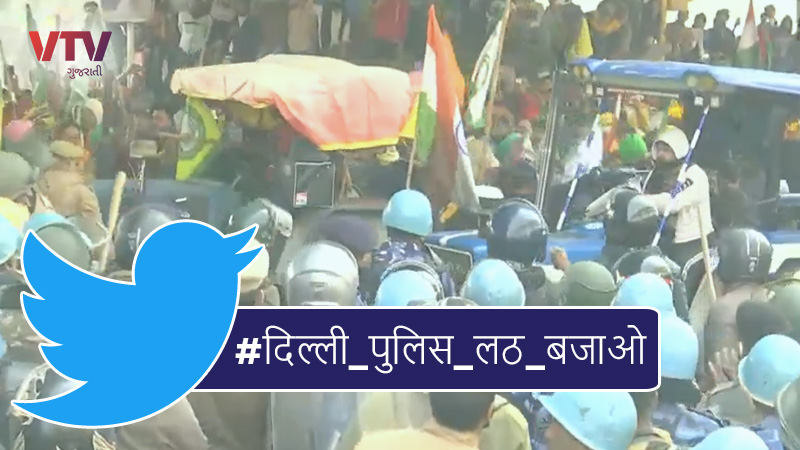 social media reactions on farmers protest in delhi on republic day