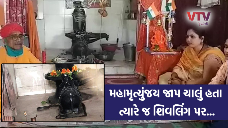 viral video of snake wrapped around shivling