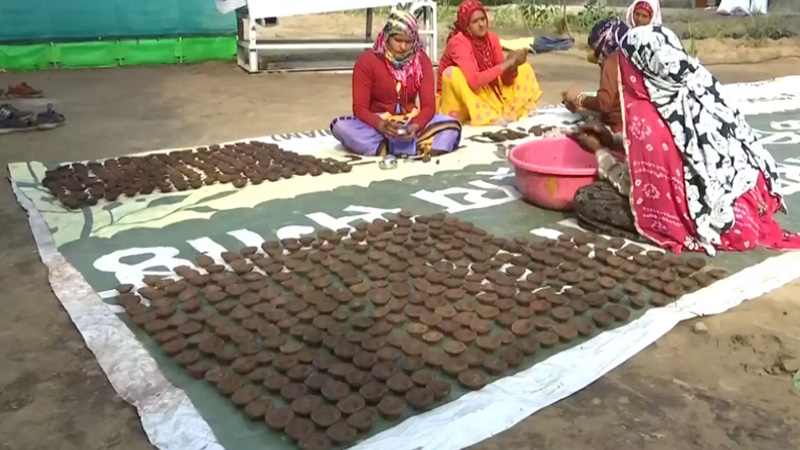 Lamps made of cow dung soon to hit market in diwali festive season