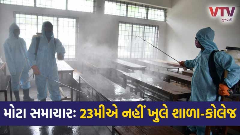 Schools colleges November 23 not open Gujarat coronavirus