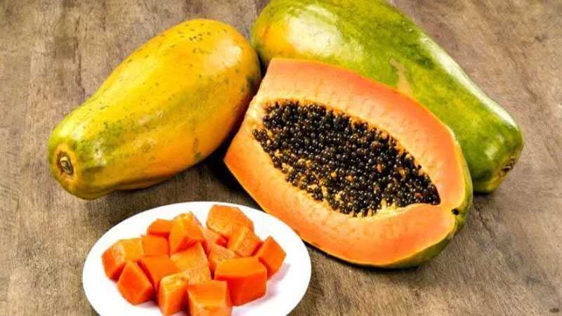 eating papaya ripe from chemical may give you food poisoning