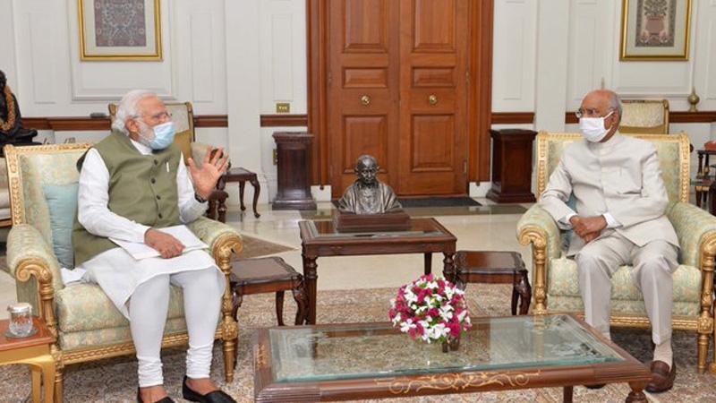 PM Modi, President Kovind discuss national, international issues at Rashtrapati Bhavan