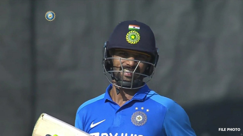 IND Vs AUS : Dhawan Battted Brilliantly Even Bit Hit On Rib-Cage