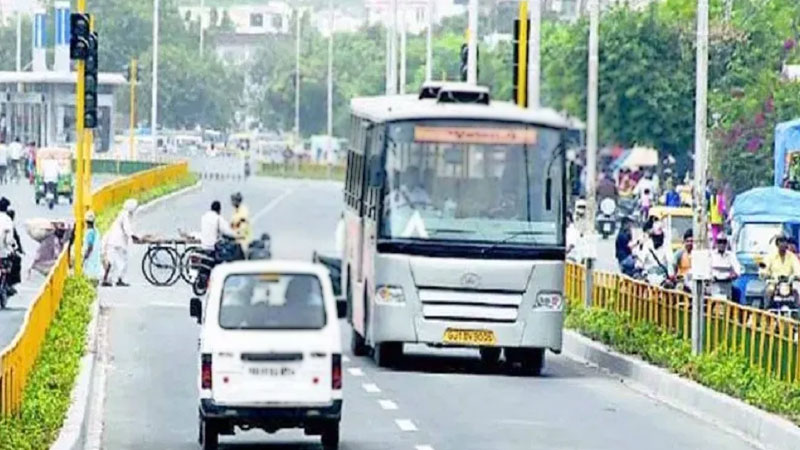 gandhinagar municipal corporation brts route change