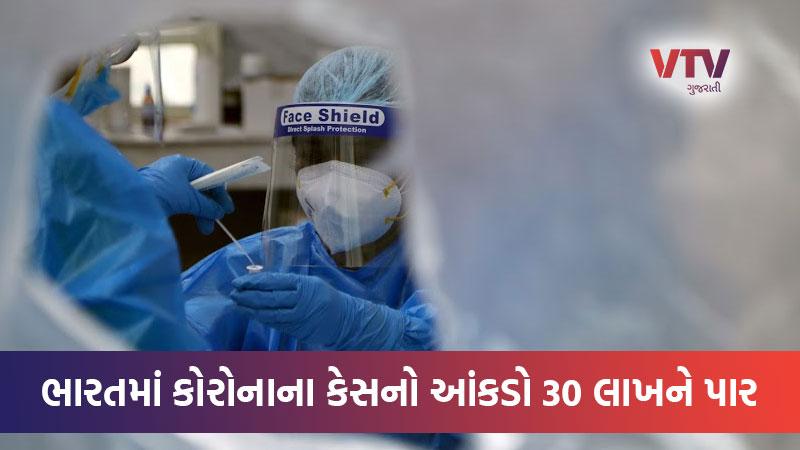 coronavirus cases in India cross 3 million