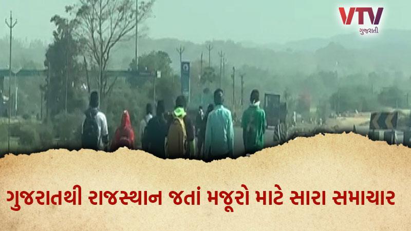 Gujarat Labourers Walk Back Home From Rajasthan
