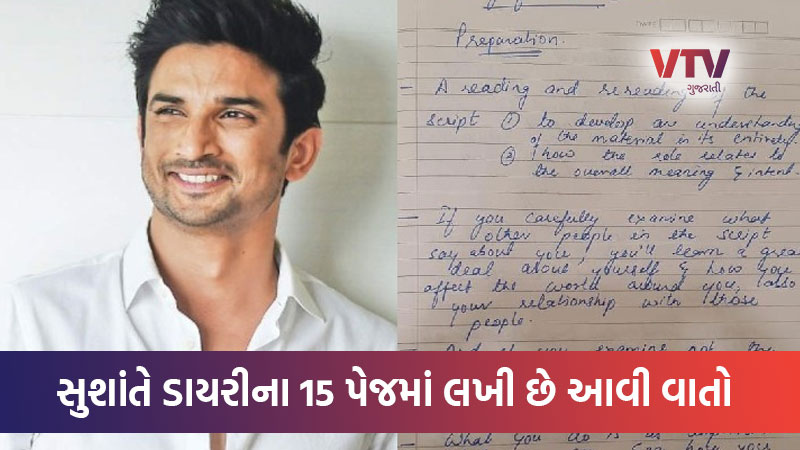 sushant singh rajput diary pages revel