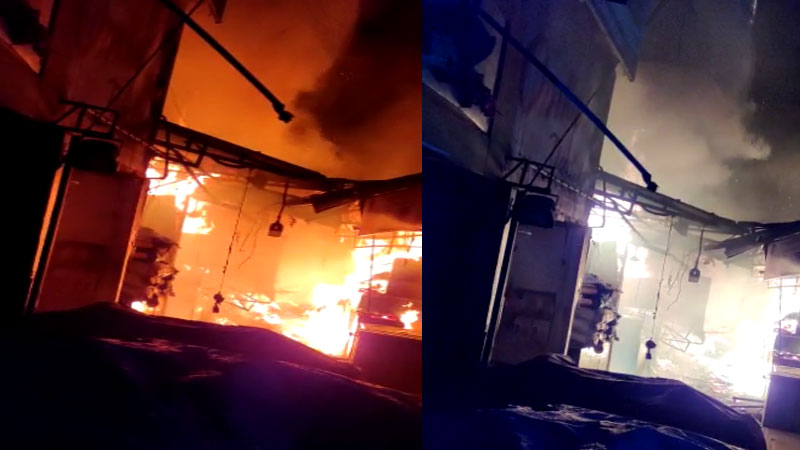 10 fire trucks rush to the spot 7 shops damaged in kalupur fire