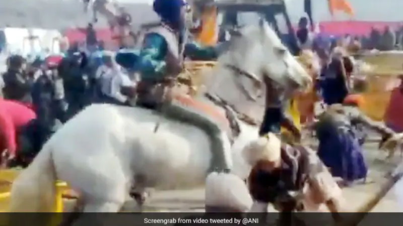 farmers with hosrses enters in Delhi video gets viral
