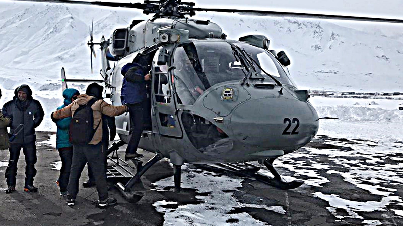 Air Force Rescues Hundreds Of People Stranded During Chadar Trek In Ladakh