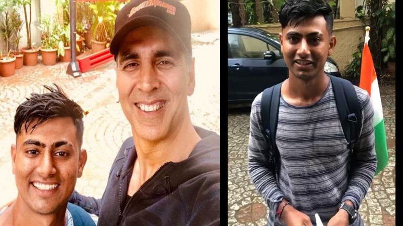 Akshay kumar meet his jabra fan walked over 900 kms 18 day