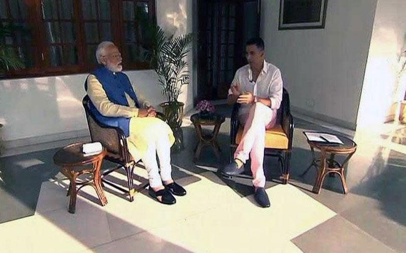 Mockery of journalism twitter slams Akshay Kumar PM Modi interview
