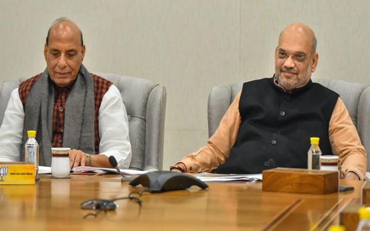 Home minister amit shah high level meeting for jammu kashmir