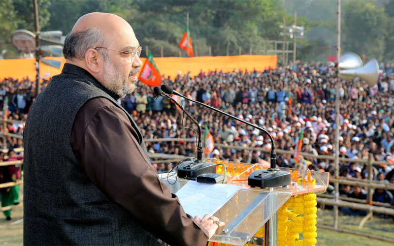 Kolkata police reached location of Amit Shah rally asking bjp to show all papers west bengal