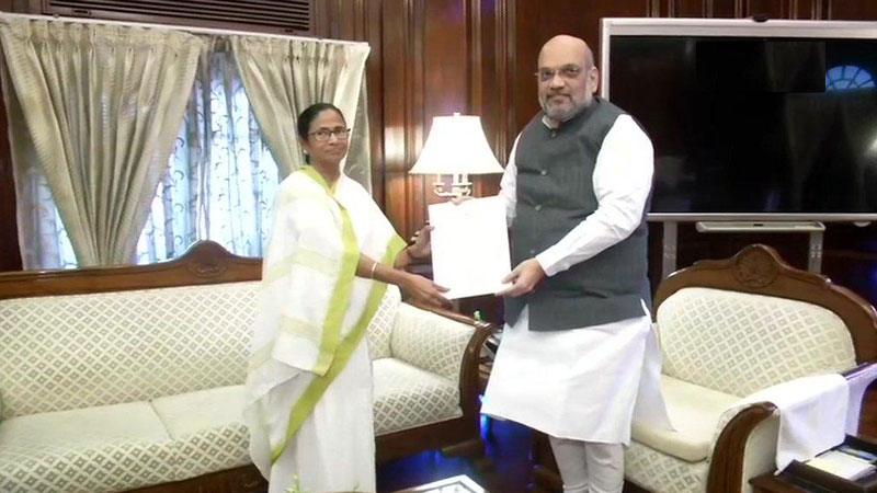 West bengal CM Mamta Banerjee meets Home Minister Amit Shah