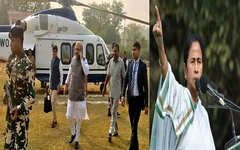 Amit Shah denied permission to hold Jadavpur road show and helicopter landing