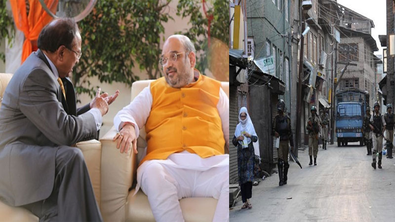 Meeting underway at home ministry on Jammu Kashmir issue NSA ajit doval and other officials