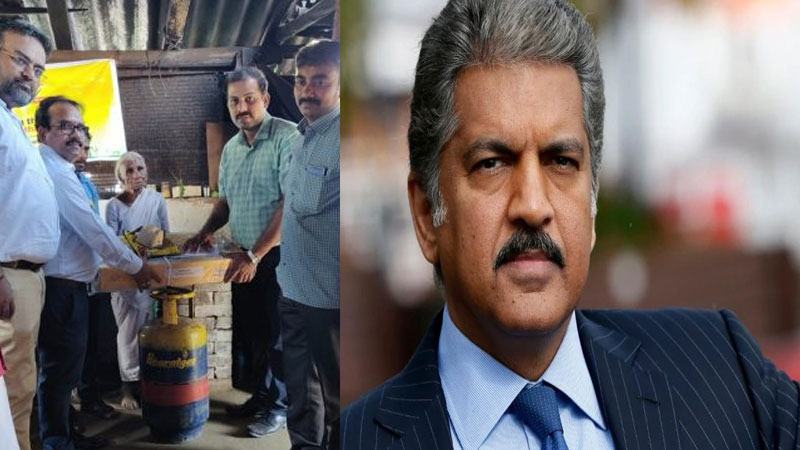 Businessman Anand Mahindra thanks to Bharat gas Coimbatore for giving LPG connection