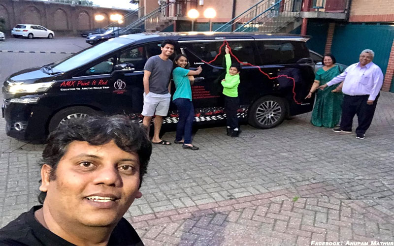 World cup family trip by cars from Singapore to London