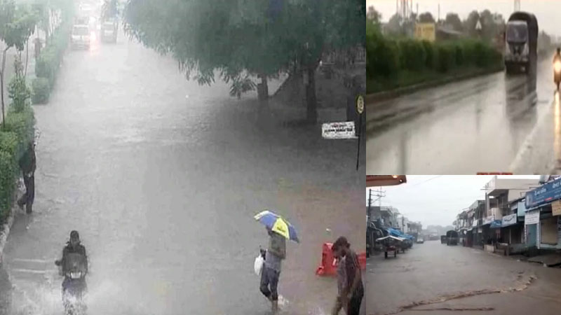 Heavy rain in Aravalli