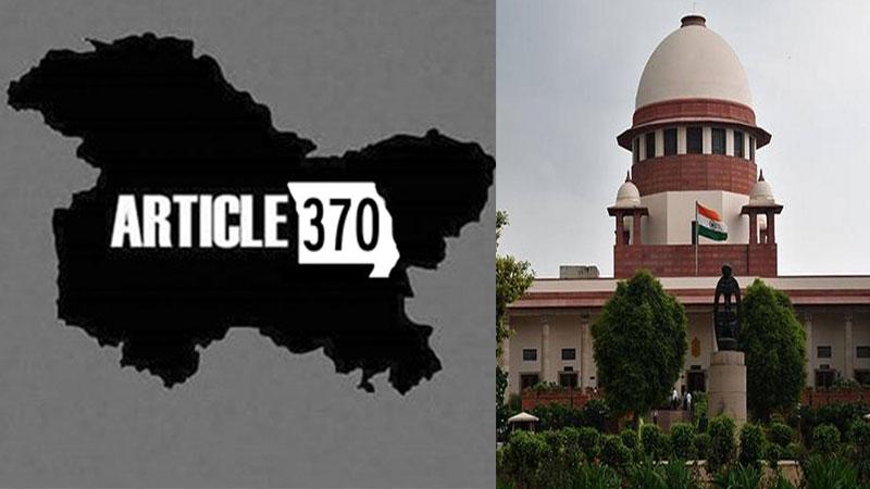 Article 370 Jammu Kashmir supreme court panel hearing vaiko sitaram yechury ghulam nabi azad
