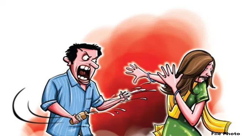 Tired of financial situation husband attacks acid on family