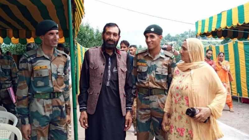 J&K Slain rifleman Aurangzeb brothers join Army