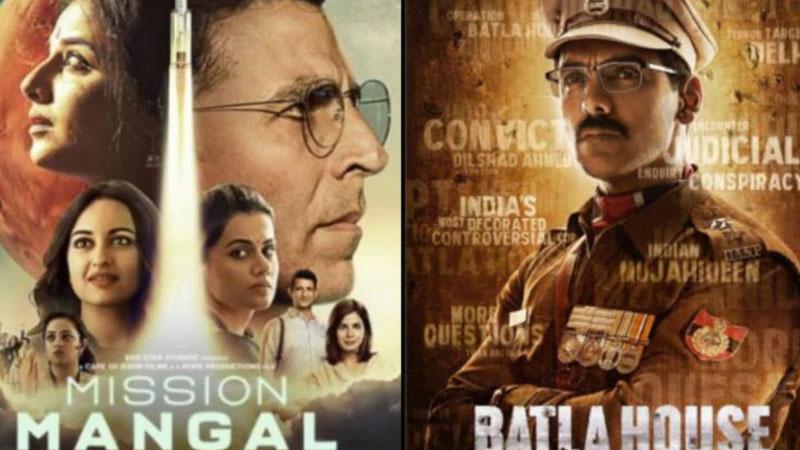 Box office collection day 2 mission mangal and batla house akshay kumar john abraham
