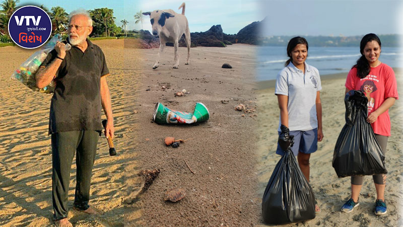 Cleaning The Beaches Of Goa 30 Minutes Cleanup Sprint run by ahmedabad girl shruti chaturvedi