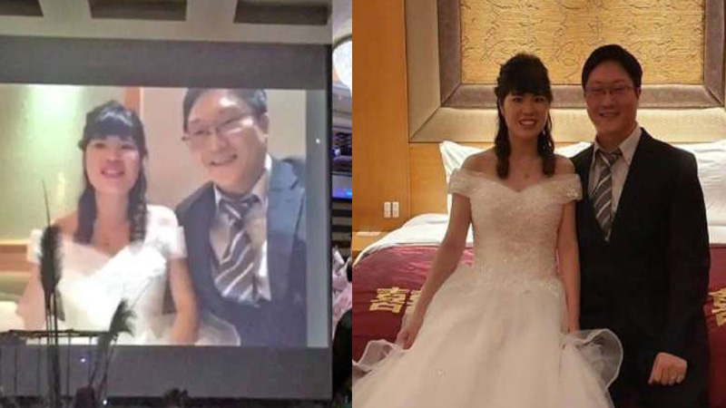 Coronavirus BK bride and groom married in front of guests using live streaming