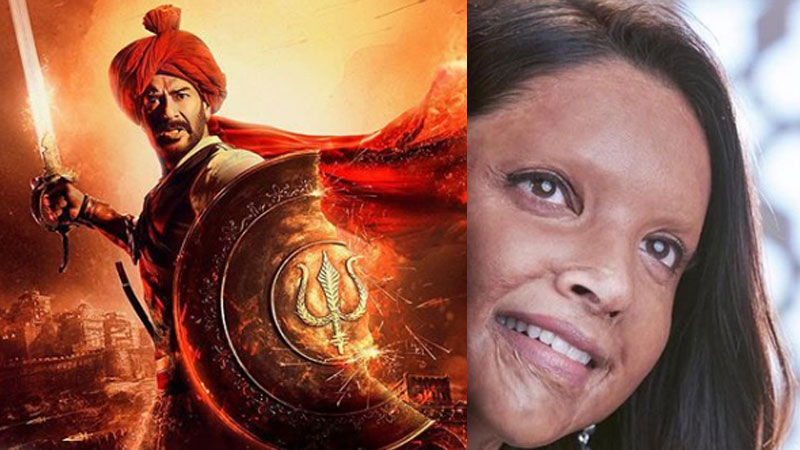 6 days Box Office collection of Film Tanhaji the unsung warrior and Chhapaak
