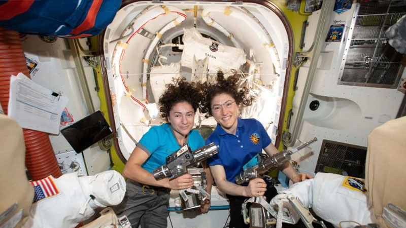 Without a single man in space, these two women made spacewalk history