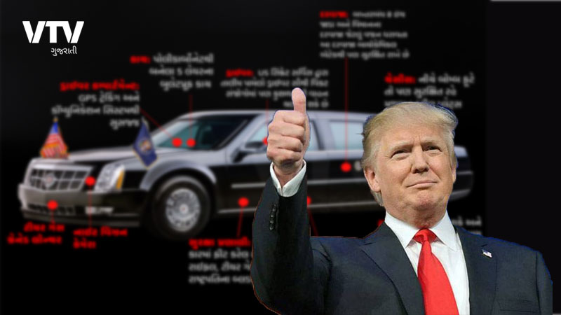 Features of USA president Donald Trumps super car
