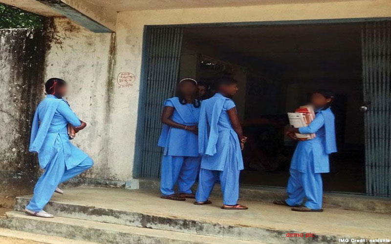 Dantewada district of chhattisgarh children read naxali message as soon as they reach school