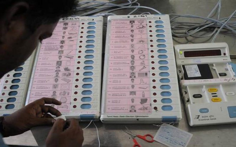 Chhattisgarh: Bilaspur polling team broke EVM seal before election commission take action Lok Sabha Election 2019