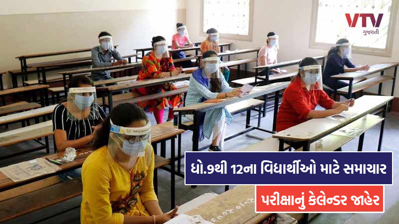calendar of examination date announced by Gujarat Secondary Board