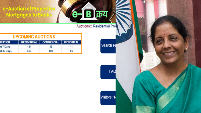Sitharaman launches common e-auction platform for assets attached by banks