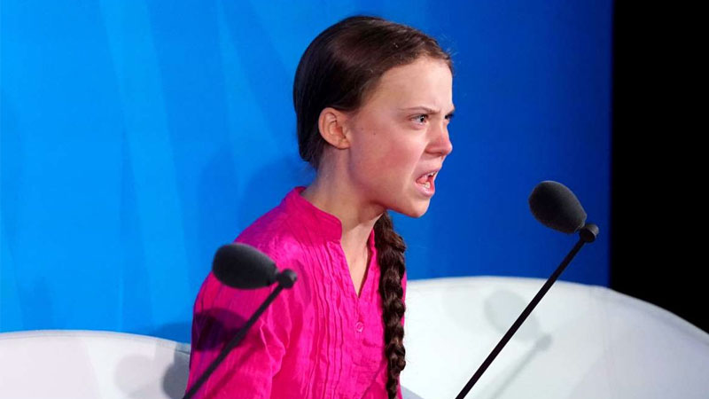 Young climate activist Greta Thunberg thunders at UN meet