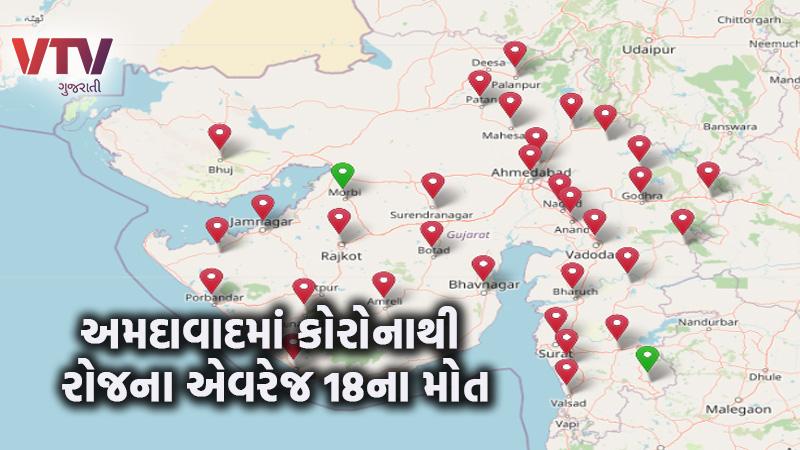 coronavirus in Gujarat daily 22 death in Gujarat till last 1 month