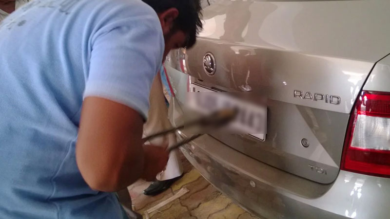 HSRP number plate change your home
