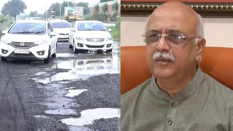 I k jadeja questions against auda officials and contractors in Ahmedabad bad roads