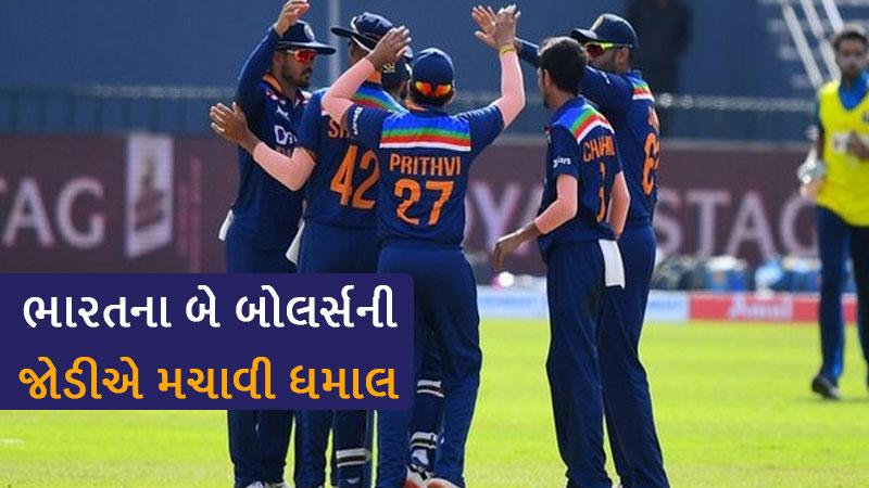 ind vs sl odi : kuldeep yadav and yujhvendra chahal takes 2-2 wickets